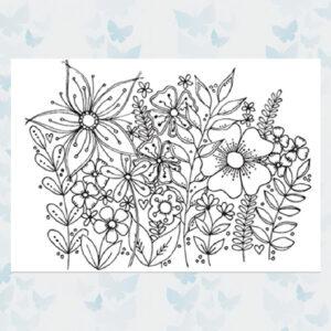 Julie Hickey Clear Stempels Garden Medley JH1038