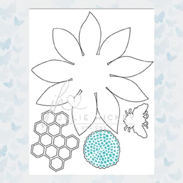 Julie Hickey Snijmallen Sunflower Bee Set JHD-CUT-1007