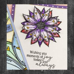 Julie Hickey Clear Stempels Mini Sunflower JHE1023