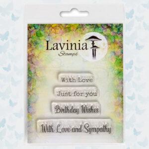 Lavinia Clear Stamp - Heartfelt Verses LAV677