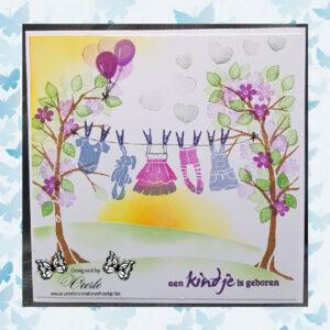 Majestix Clear Stamps Baby Girl Waslijn