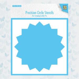 Nellie's Choice Precision Stencils 16-punts Cirkel MMPCS003