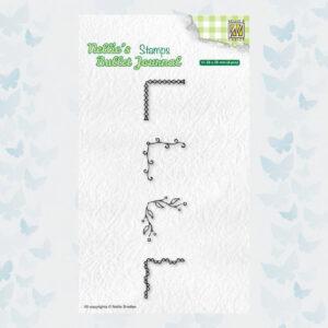 Nellies Choice Clear Stempel - Journal - Hoeken set1 NBJCS004