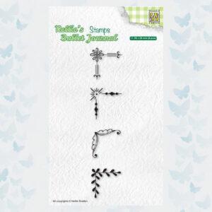 Nellies Choice Clear Stempel - Journal - Hoeken set2 NBJCS005