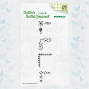 Nellies Choice Clear Stempel - Journal - Hoeken set3 NBJCS006