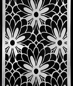 Picket Fence Studios Slim Line Daisy Burst Stencil (SC-209)