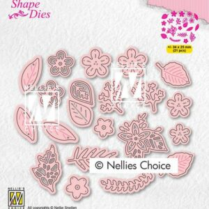 Nellies Choice Shape Die - Bloemen en Bladeren SD191