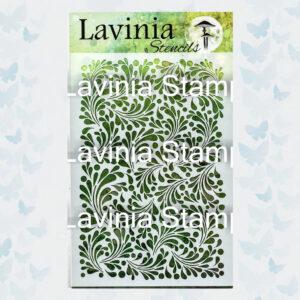 Lavinia Stencil Feather Leaf ST014
