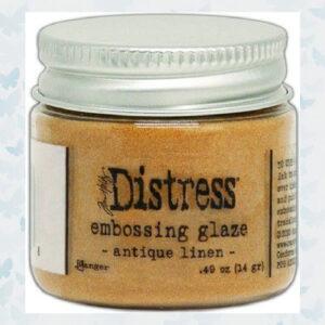 Ranger Distress Embossing Glaze Antique Linen TDE70948