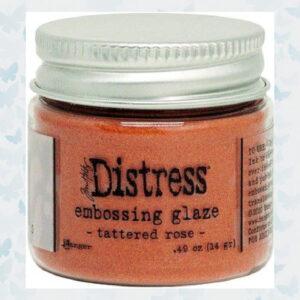 Ranger Distress Embossing Glaze Tattered Rose TDE71020