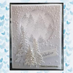 Nellies Choice Christmas Silhouette Clearstamp - Mistig Bos TXCS017