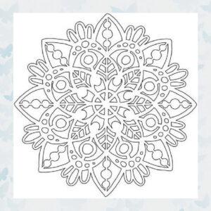 That's Crafty! Mask stencil - Mandala 1 - 102133