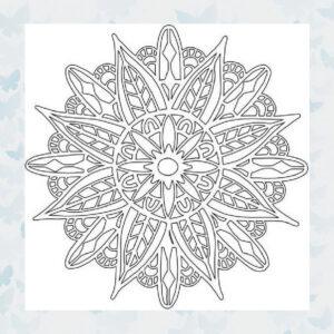 That's Crafty! Mask stencil - Mandala 2 - 102134