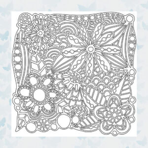 That's Crafty! Mask stencil - Flowers Galore 102229