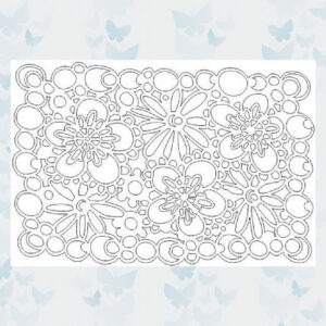 That's Crafty! Mask stencil - Flowers 102713