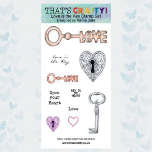That's Crafty! Clearstamp slimline - Love is the Key