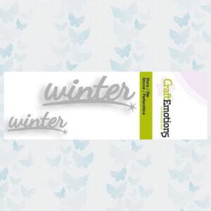 CraftEmotions Snijmal - Tekst 2x Winter 115633/0203