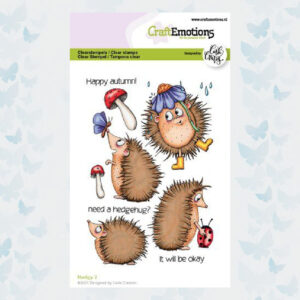 CraftEmotions Clear Stempels - Hedgy 2 Carla Creaties 130501/1517