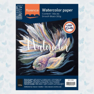 Florence Aquarelpapier A4 Glad Zwart 300gr/100vellen 2911-9103