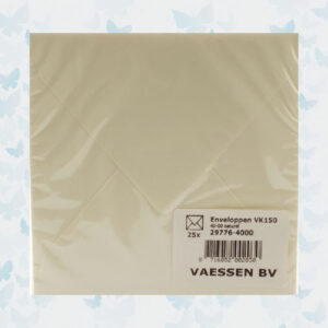 Enveloppen 15x15cm/25 st. Naturel Art. 29776-4000