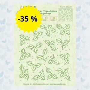 LeCrea - Embossing folder background Leaves 35.2557