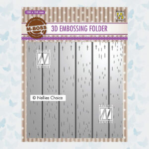 Nellies Choice 3D Emb. folder streeppatroon 2 3EF3D025