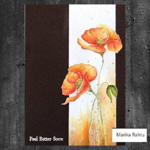 Altenew Painted Poppy Stamp & Die set ALT1013BN