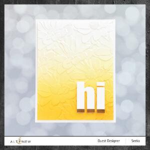 Altenew 3D Embossing Folder Daisy Bed ALT6127