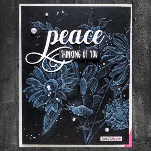 Altenew 3D Embossing Folder Pressed Flowers ALT6276