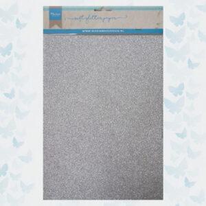Marianne Design Glitter Papier Zilver CA3142 / A4