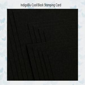 IndigoBlu Coal Black Stamping Card