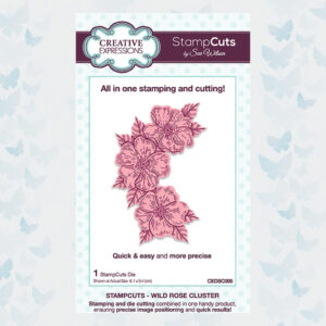 Creative Expressions StampCuts Wild Rose Cluster