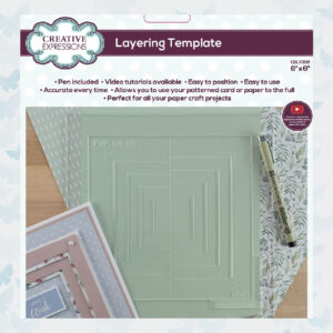 Creative Expressions Layering Template 15.2x15.2cm