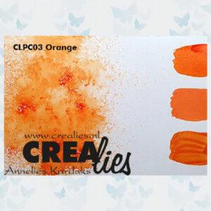 Crealies Pigment Colorzz Poeder Oranje CLPC03