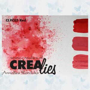 Crealies Pigment Colorzz Poeder Rood CLPC05
