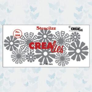 Crealies Stencilzz no.208 Bloemetjes CLST208