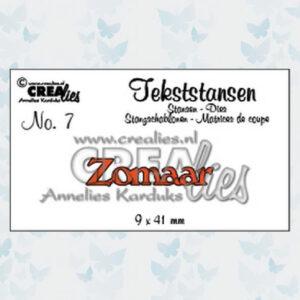 Crealies Tekstmal - Zomaar CLTS07