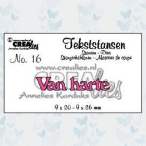 Crealies Tekststans - Van Harte CLTS16