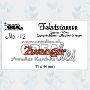 Crealies Tekstmal - Zwanger CLTS42