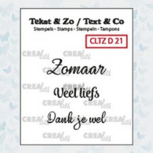 Crealies Clearstamp Tekst&Zo Divers N°21 CLTZD21