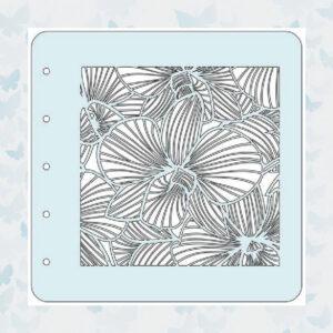 Nellies Choice Stencil voor Magnetic colour set - Bloem - 3 COLST014