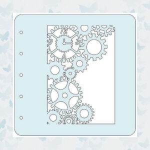 Nellies Choice Stencil voor Magnetic colour set - Klok COLST015