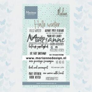 Marianne Design Clear Stamps Hallo Winter CS1036