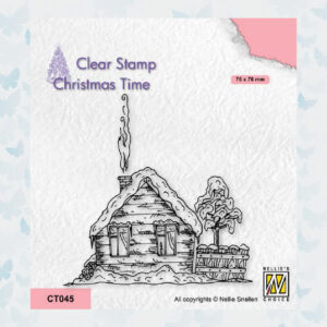 Nellies Choice Clearstempel - Chris.Time Huis in de sneew CT045