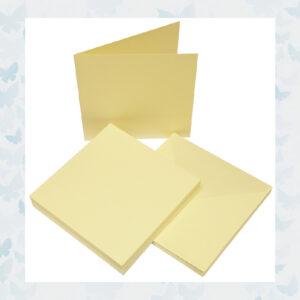 Craft UK Kaarten & Enveloppen 6x6 Inch Ivoor 50pcs (CUK600)