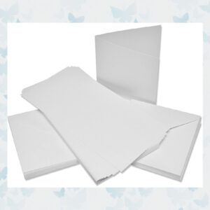 Craft UK Premium Collection Cards & Envelopes 6x6 Inch White Linen (CUKW103)