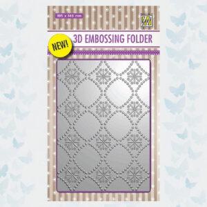 Nellies Choice 3D Emb. folder Backgrounds bloemen 2 EF3D002