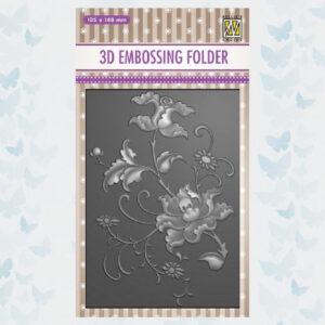 Nellies Choice 3D Embossing Folder - Exotische Bloem EF3D027