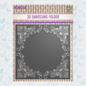 Nellies Choice 3D Embossing Folder - Bloemen Frame EF3D028