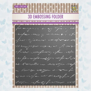 Nellies Choice 3D Embossing Folder - Geschreven Tekst EF3D029